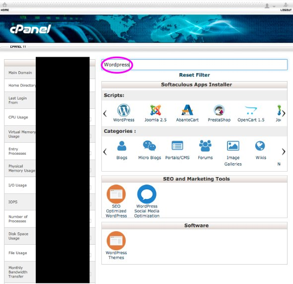 cpanel-wordpress-selection