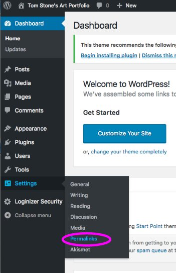 wordpress-permalink-selection