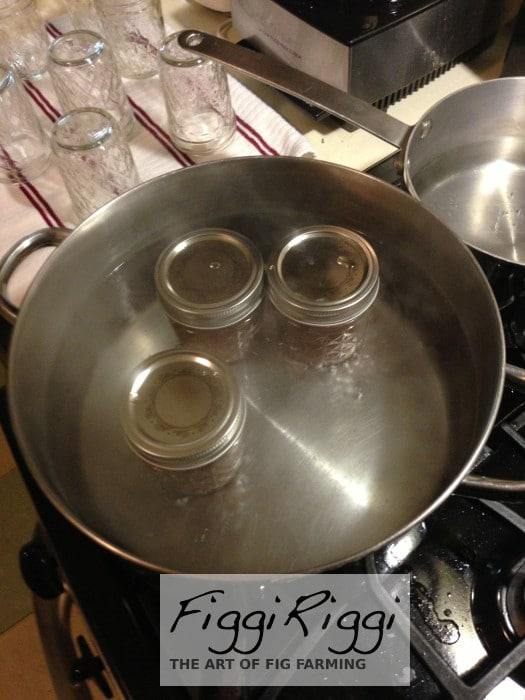 Boiling the air out of the pulp filled jars