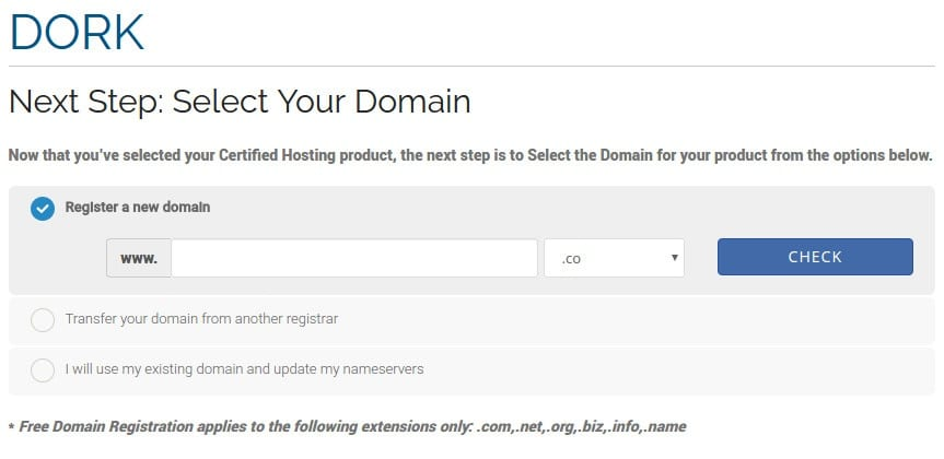 Check your web domain