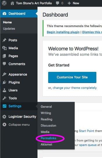 wordpress-permalink-selection